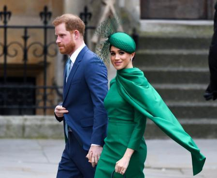 Prince Harry and Megan Markle during Commonwealth Day in London