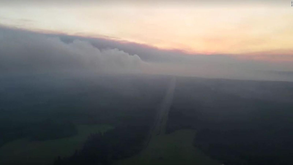 The smoke from the fires in Russia is felt even in the United States