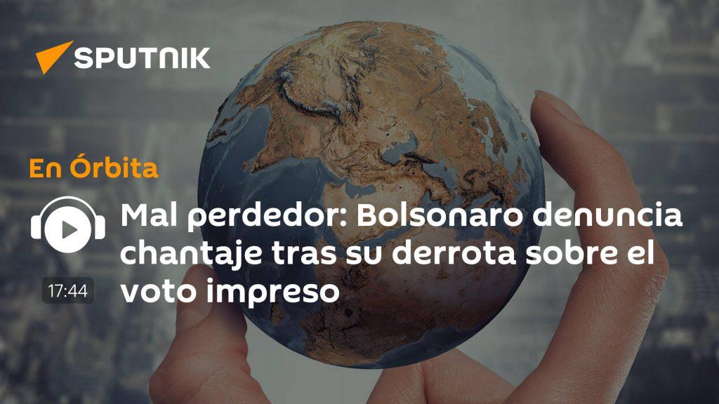 Bolsonaro denounces blackmail after his print vote defeat