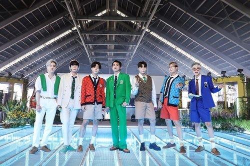La foto, proporcionada por Big Hit Music, muestra a la superbanda del K-pop BTS. (Prohibida su reventa y archivo)