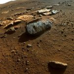 The first rock indicates the presence of life on Mars