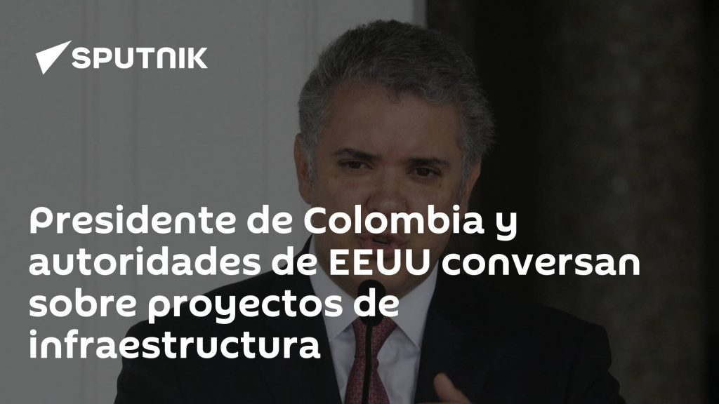 The President of Colombia and the US authorities talk about infrastructure projects