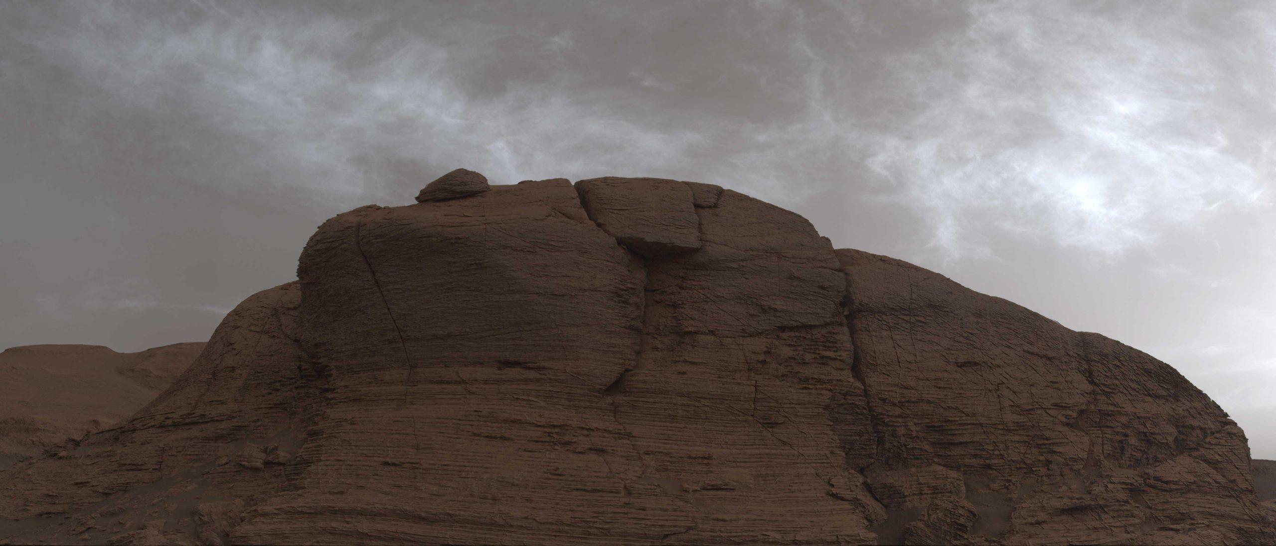Mars curiosity cloudy today