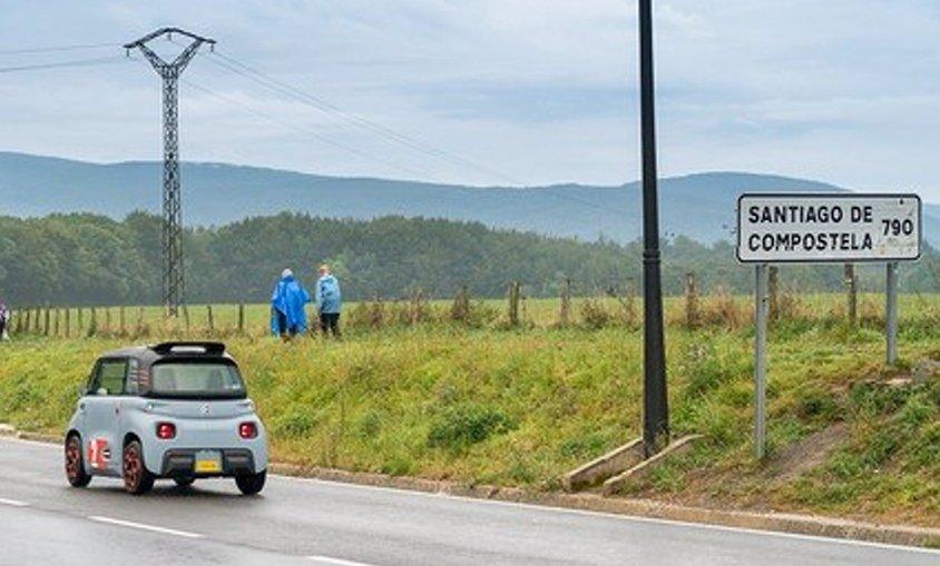 Citroën Ami, the first electric car to make the Camino de Santiago be charged with a local socket - El Periodico de la Energía
