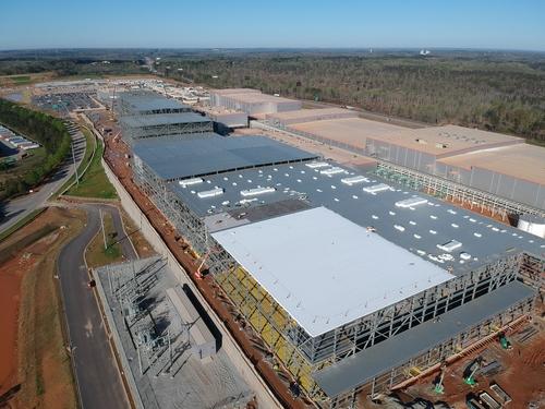 La foto de archivo sin fechar, proporcionada por SK Innovation Co., muestra su fábrica de baterías que se encuentra en construcción en el estado de Georgia, Estados Unidos. (Prohibida su reventa y archivo)