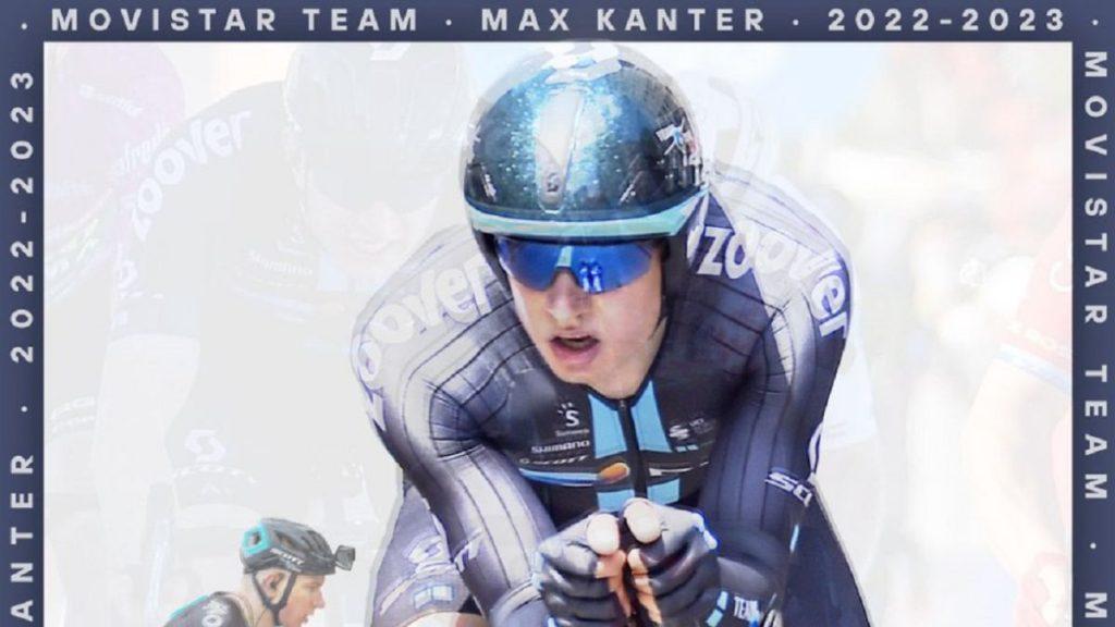 Cartel promocional del fichaje de Max Kanter por el Movistar hasta 2023.