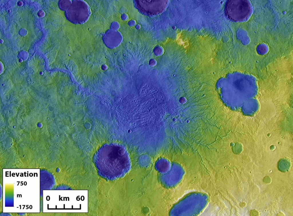 Flooding caused landscapes on Mars