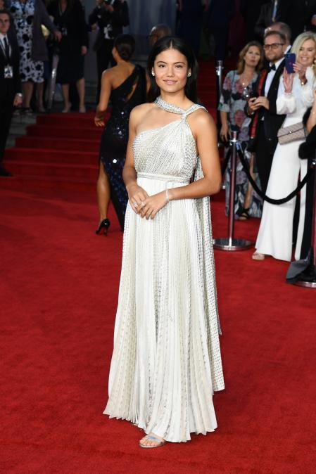 Emma Raducano, at the premiere of the movie
