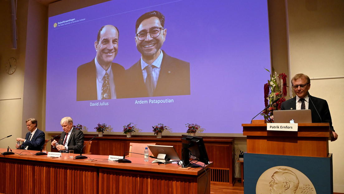 """David Julius and Erdem Patabutian win the Nobel Prize in Medicine """"For his discoveries of touch and temperature receptors"""""""