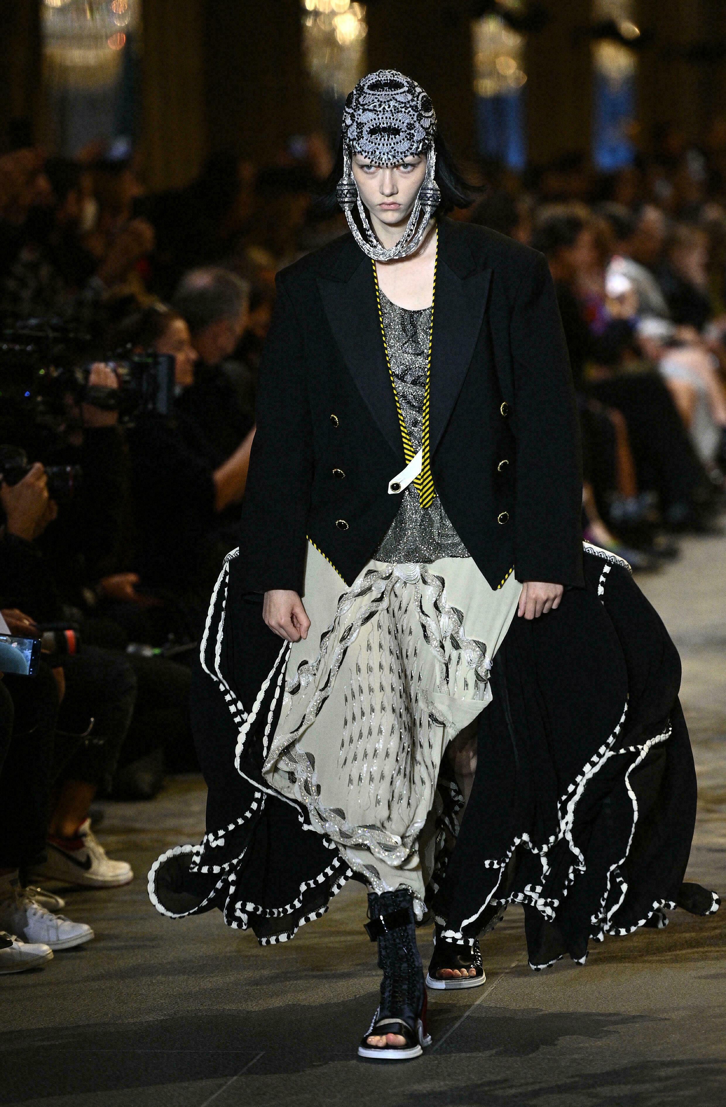 Louis Vuitton fashion show in Paris, October 5, 2021