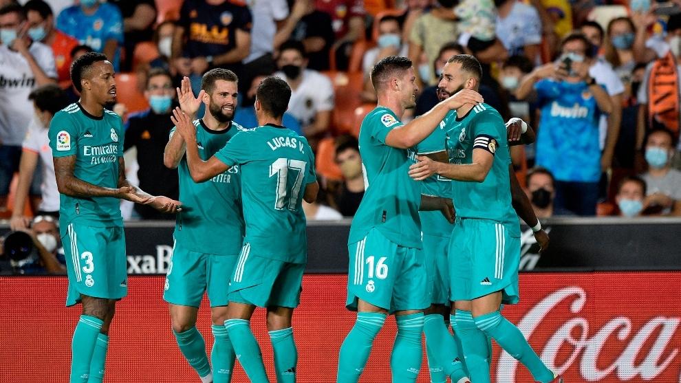 El Real Madrid durante un partido.