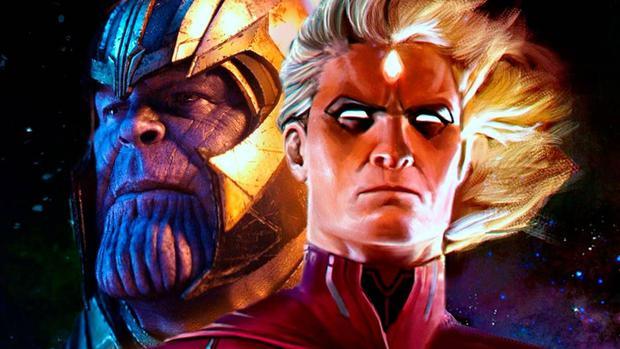 Adam Warlock y Thenaos (Image: Marvel)
