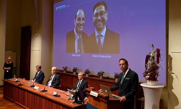 David Julius and Erdem Patbutian, 2021 Nobel Prize laureates in medicine