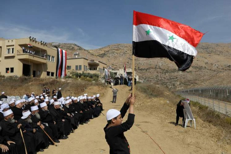 Radio Havana Cuba |  Syria: Protests in the Golan against Israel's colonial plans