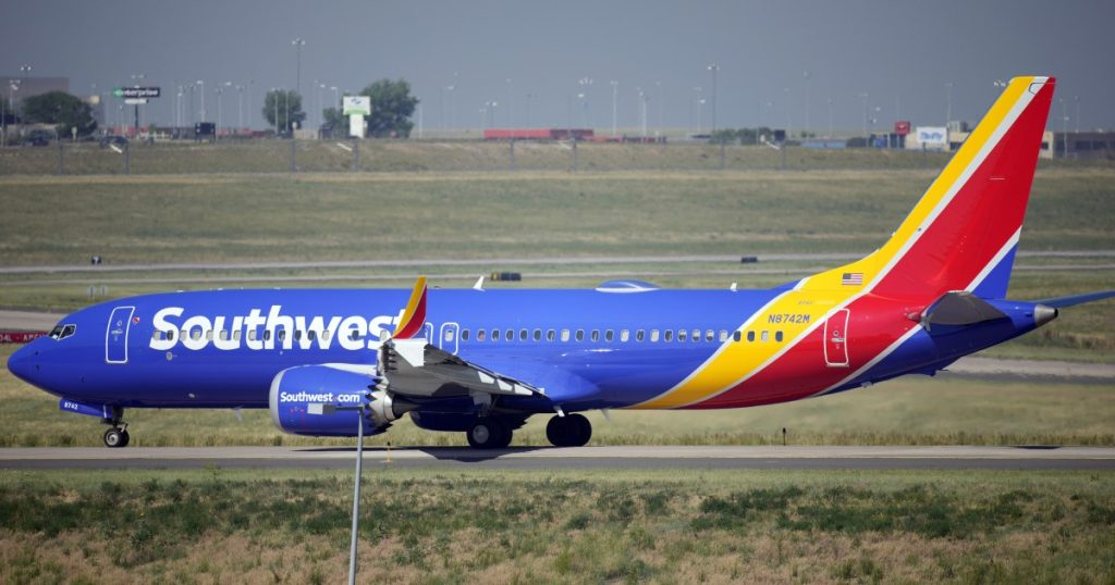 Southwest Airlines has reported fewer flight cancellations