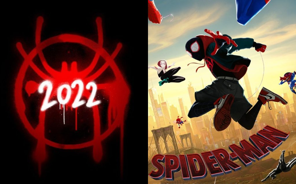 The sequel to the movie Spiderman Into The Spiderverse announced for 2022.